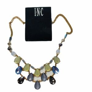 NWT INC Gold Stone Necklace